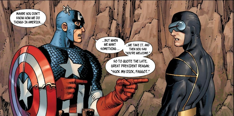 Captain america fucks the black widow